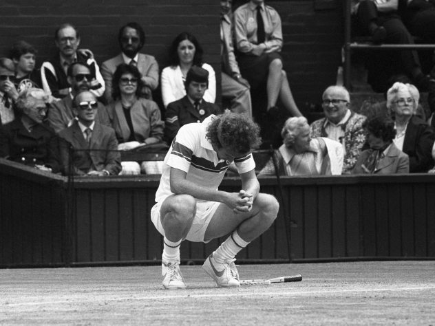 网球 – 1981 Wimbledon Championships – Men's Singles – Semi-Final – 约翰·麦肯罗 v Rod Frawley