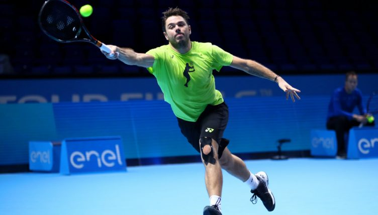 Stan Wawrinka on the run