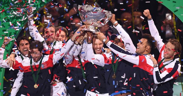 Davis Cup France celebrations
