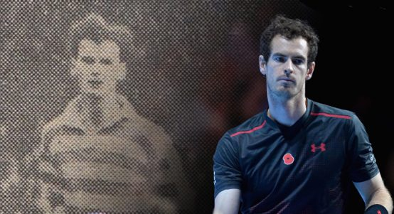 Andy Murray and grandfather Roy Erskine