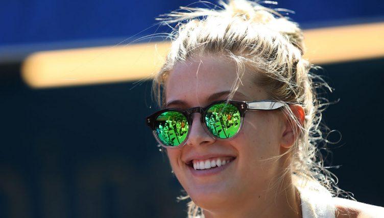 Eugenie Bouchard smiling