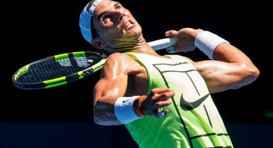 Rafa Nadal training