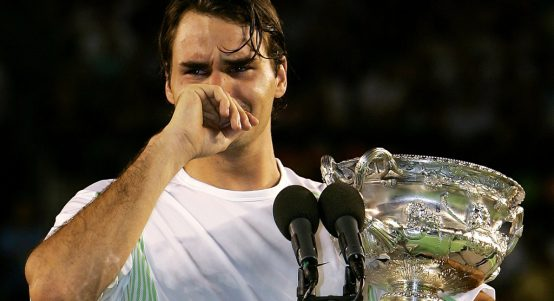 Roger Federer crying Australian Open