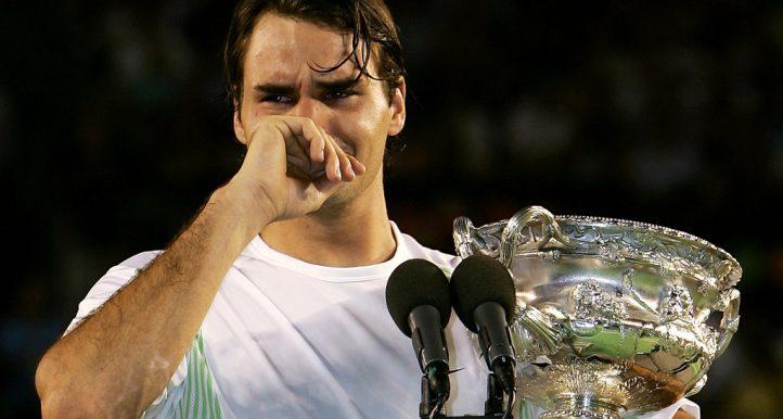 Roger Federer crying Australian Open