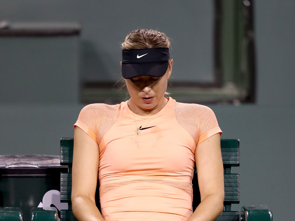 Maria Sharapova looking dejected