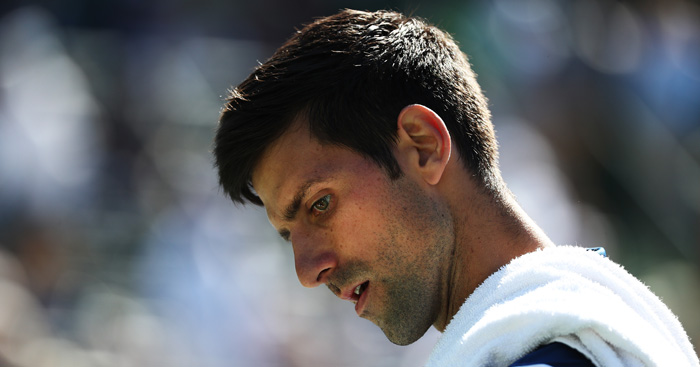 Novak Djokovic dejected