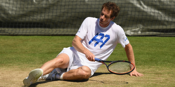 Andy Murray slipping top