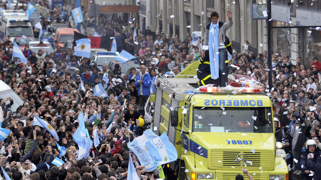 Juan Martin del Potro parade