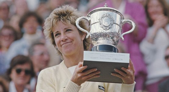 Chris Evert French Open trophy