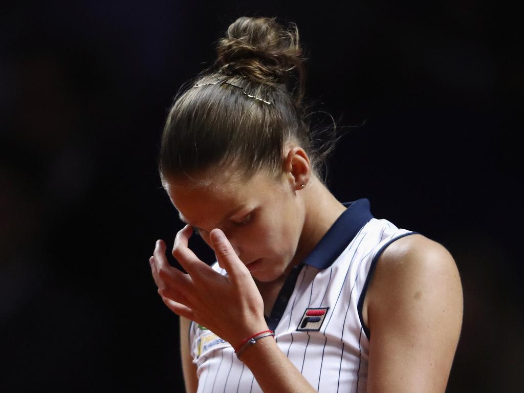Karolina-Pliskova unhappy