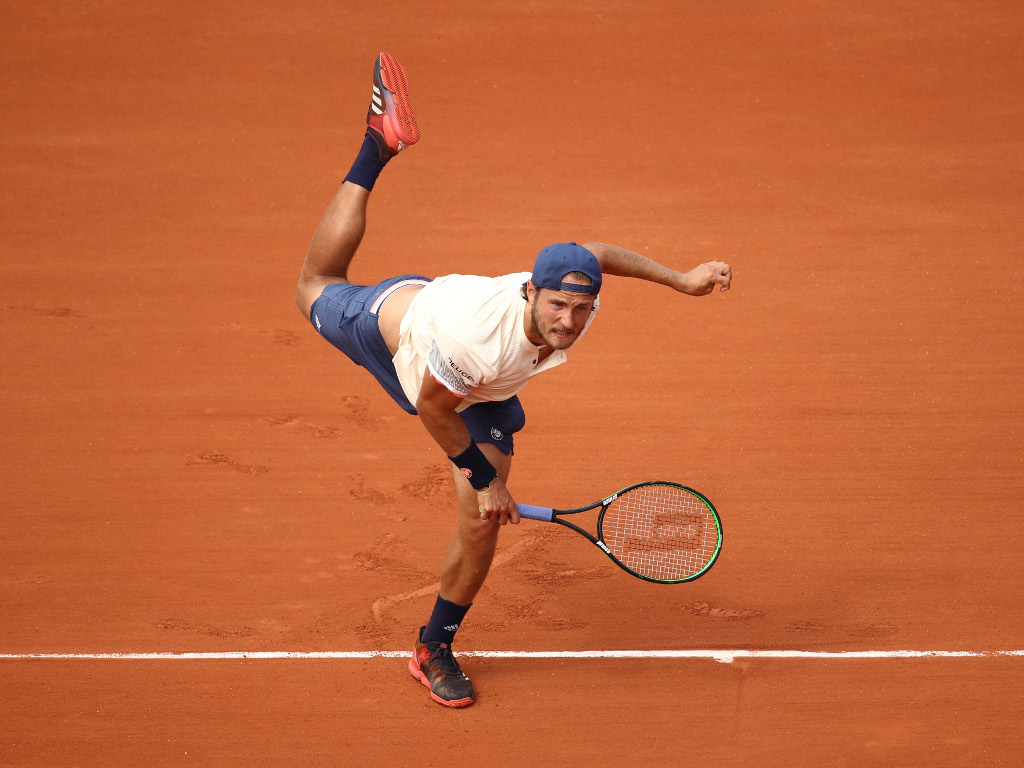 Lucas Pouille in action