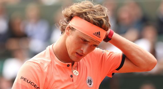 Alexander Zverev dejected