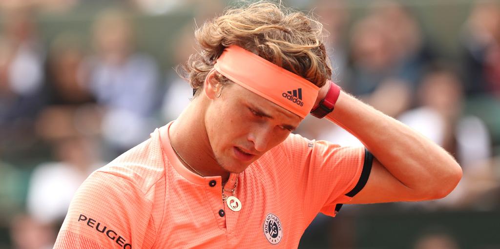 Alexander Zverev dejected