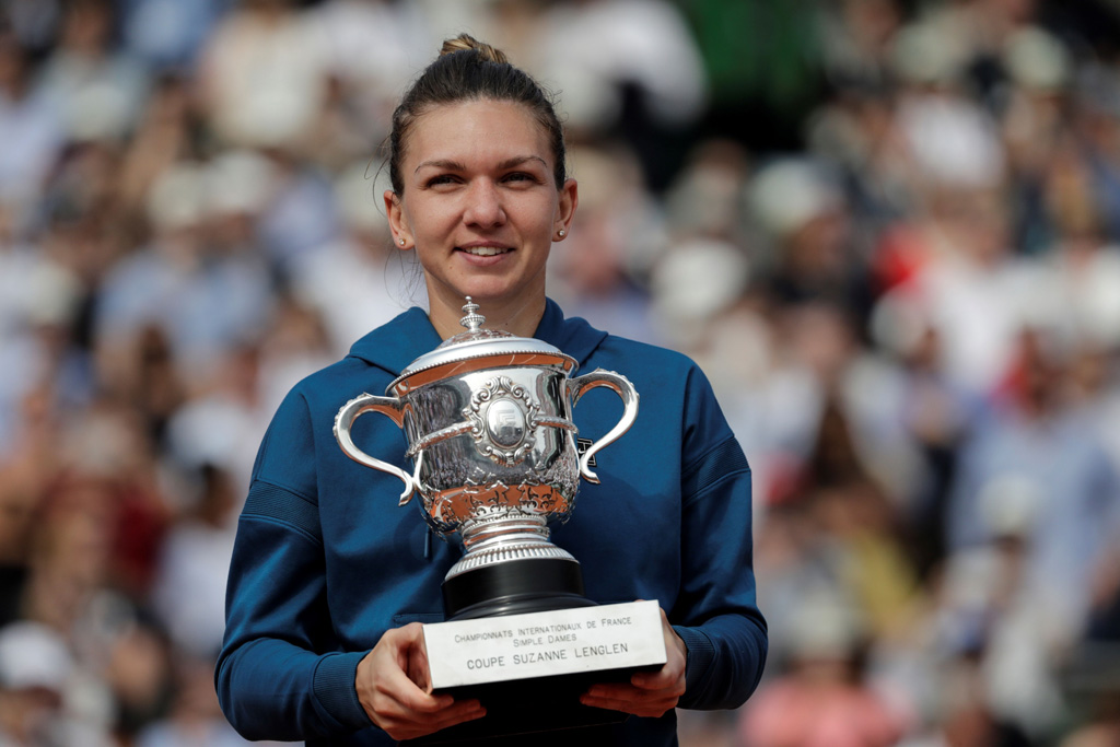 Simona Halep with French Open