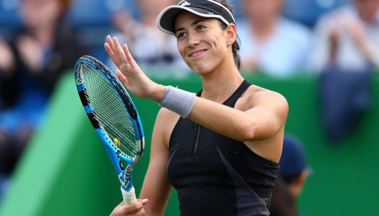Garbine Muguruza all smiles