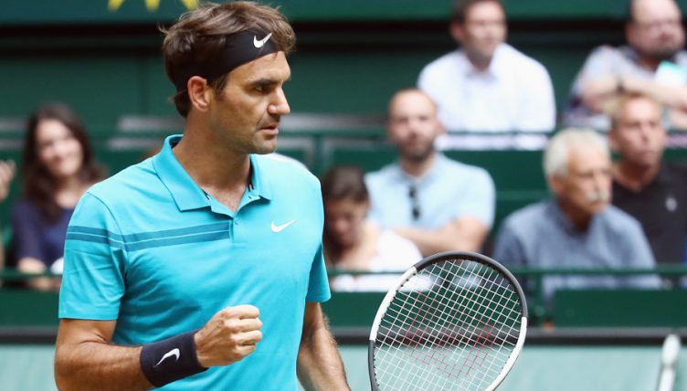 Roger Federer at Gerry Weber Open