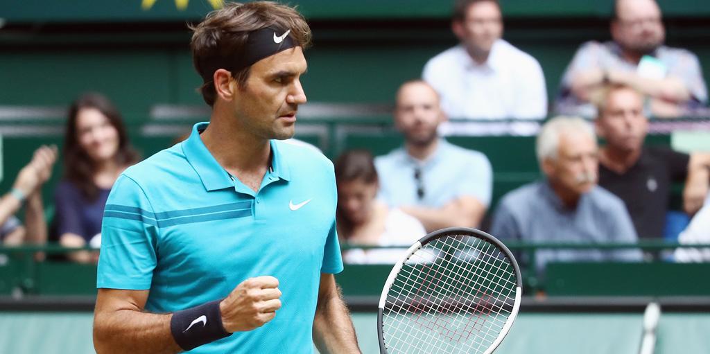 Roger Federer at Gerry Weber Open