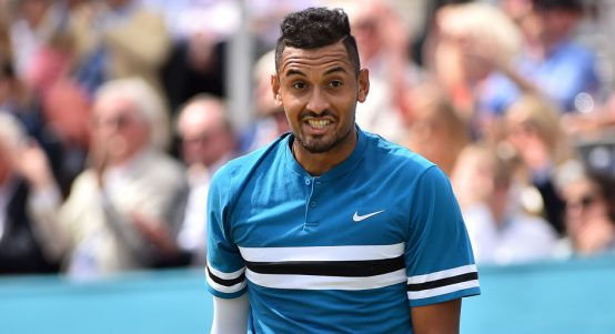 Nick Kyrgios in jovial mood