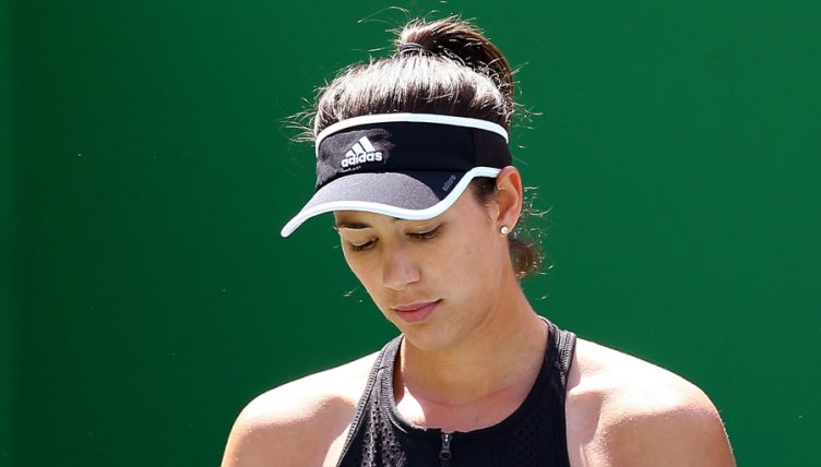 Garbine Muguruza dejected