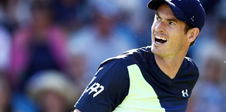 Andy Murray looking back