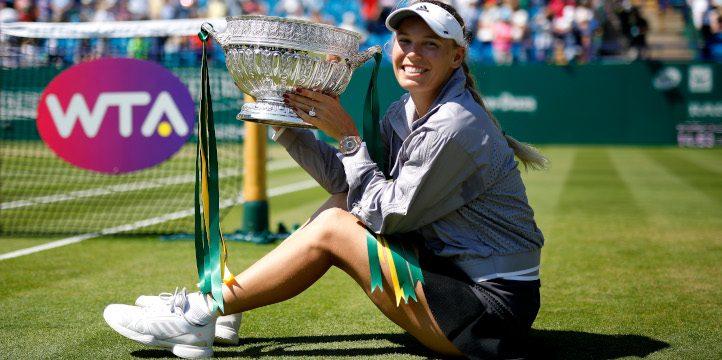 Caroline Wozniacki Eastbourne trophy