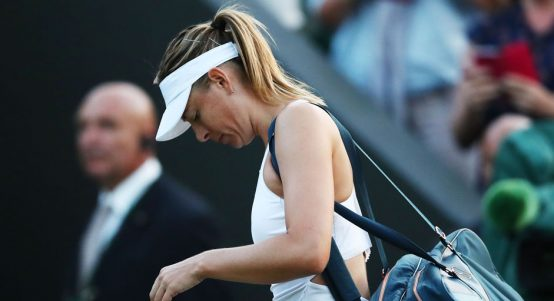 Maria Sharapova looking downcast