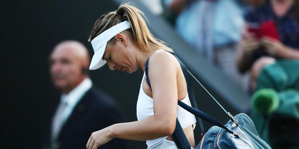 Maria Sharapova looking downcast