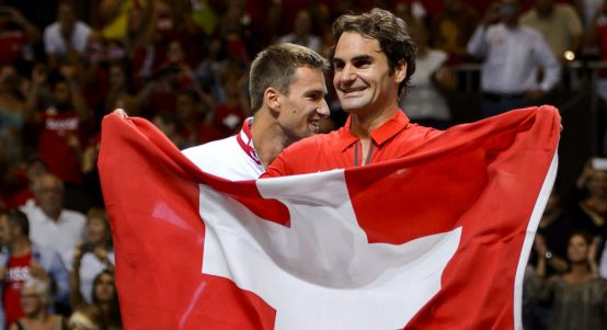 Roger Federer Switzerland flag