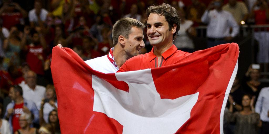 Roger Federer Switzerland flag