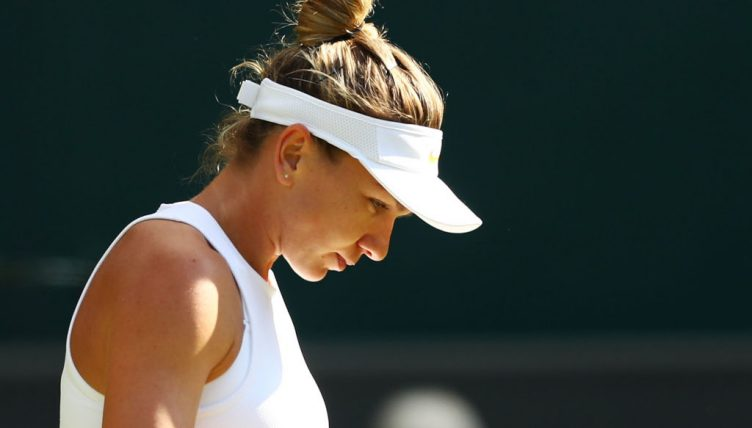 Simona Halep frustrated
