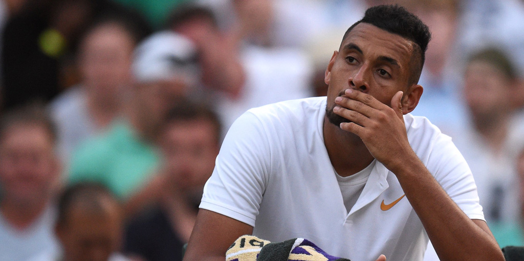 Nick Kyrgios dejected