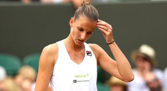 Karolina Pliskova dejected