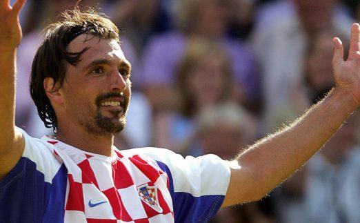 Goran Ivanisevic wears a Croatia football shirt