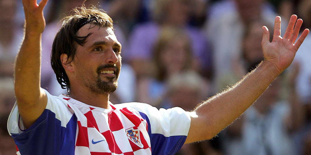 Goran Ivanisevic wears a Croatia football shirt