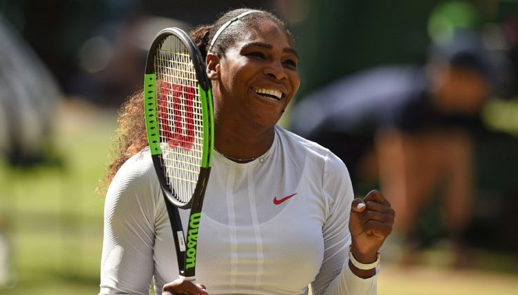 Serena Williams celebrates