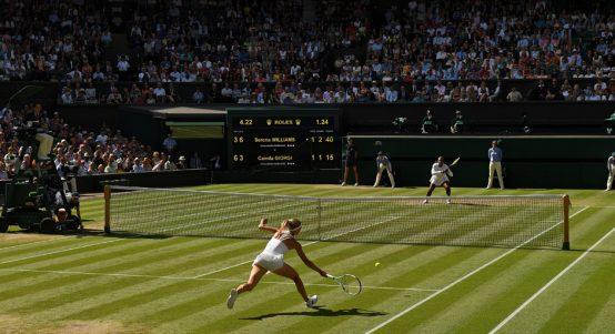 Serena Williams centre court