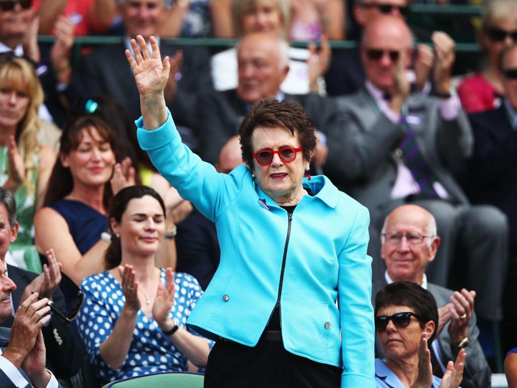 Billie Jean King at Wimbledon