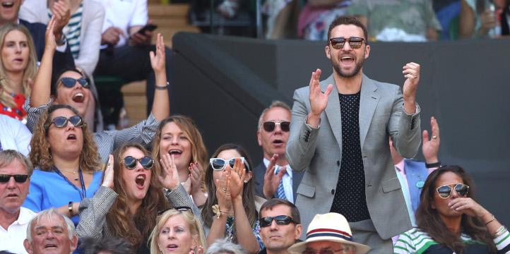 Justin Timberlake at WImbledon