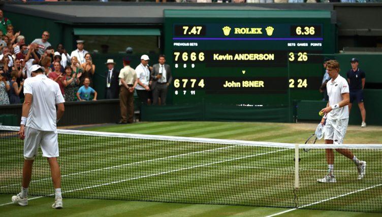 Kevin Anderson v John Isner at Wimbledon