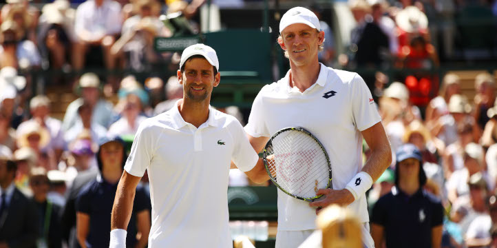 Novak Djokovic and Kevbin Anderson before Wimbledon final