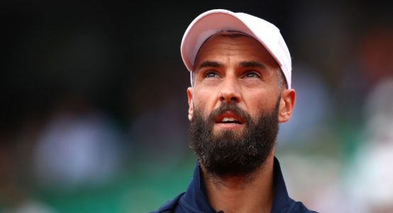 Benoit Paire watches on