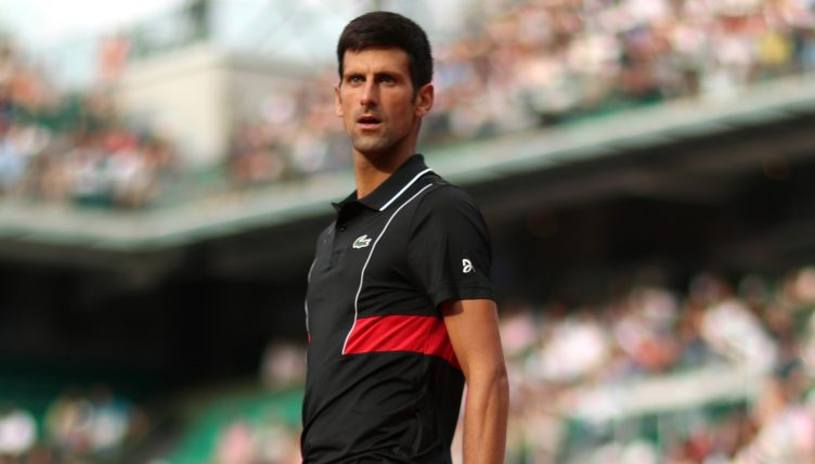 Novak Djokovic standing tall