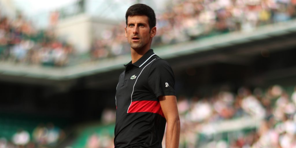 Novak Djokovic standing tall