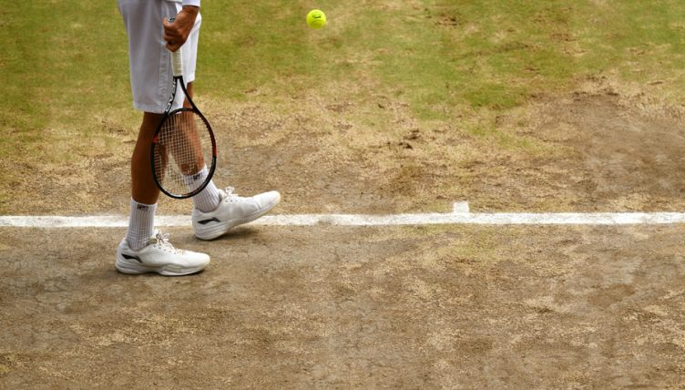 Wimbledon bare grass
