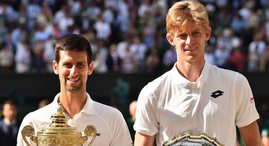 Novak Djokovic and Kevin Anderson