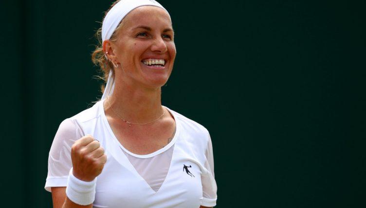 Svetlana Kuznetsova celebrates