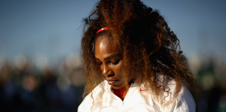 Serena Williams pensive