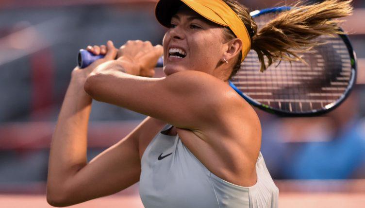 Maria Sharapova plays a shot