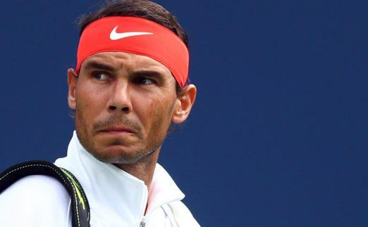 Rafael Nadal looking back