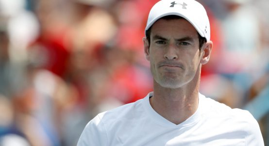 Andy Murray looking pensive